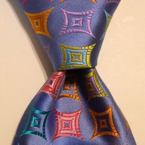 ROBERT TALBOTT Best of Class Silk Necktie Blue EUC
